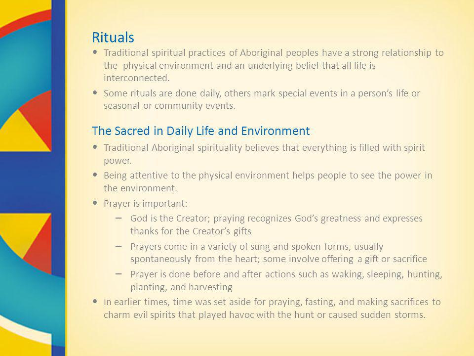 Rituals The Sacred in Daily Life and Environment