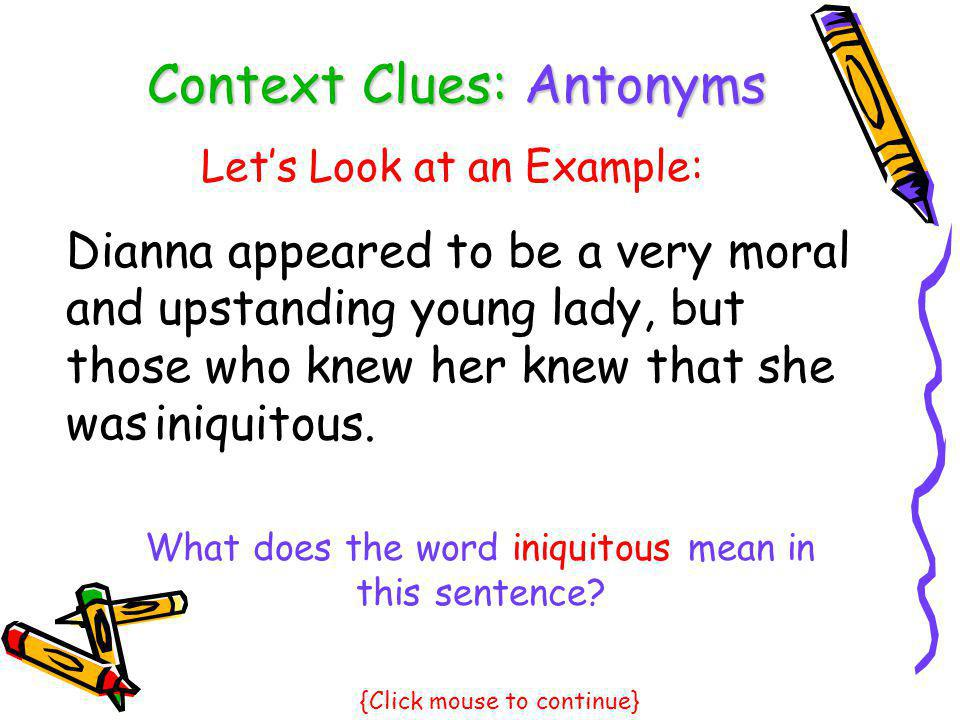 Context Clues: Antonyms