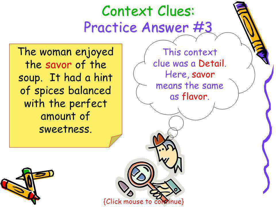 Context Clues: Practice Answer #3