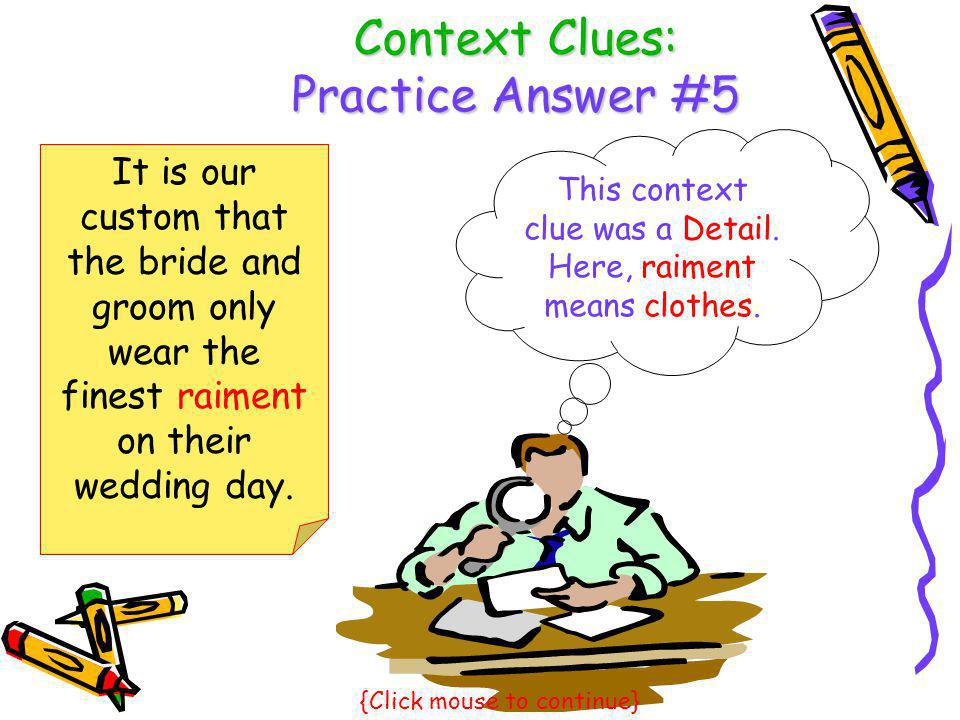 Context Clues: Practice Answer #5