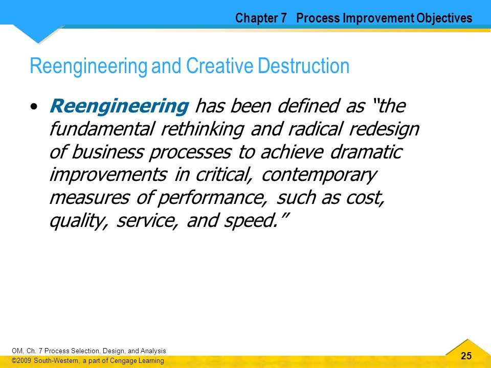 Reengineering and Creative Destruction