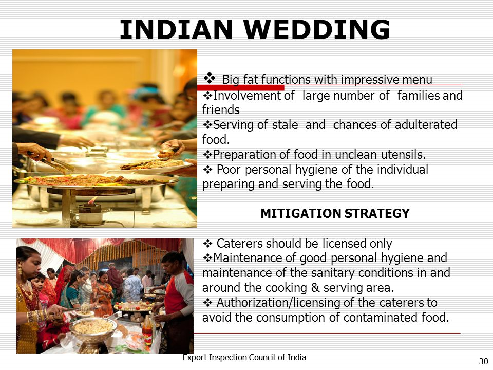INDIAN WEDDING Big fat functions with impressive menu