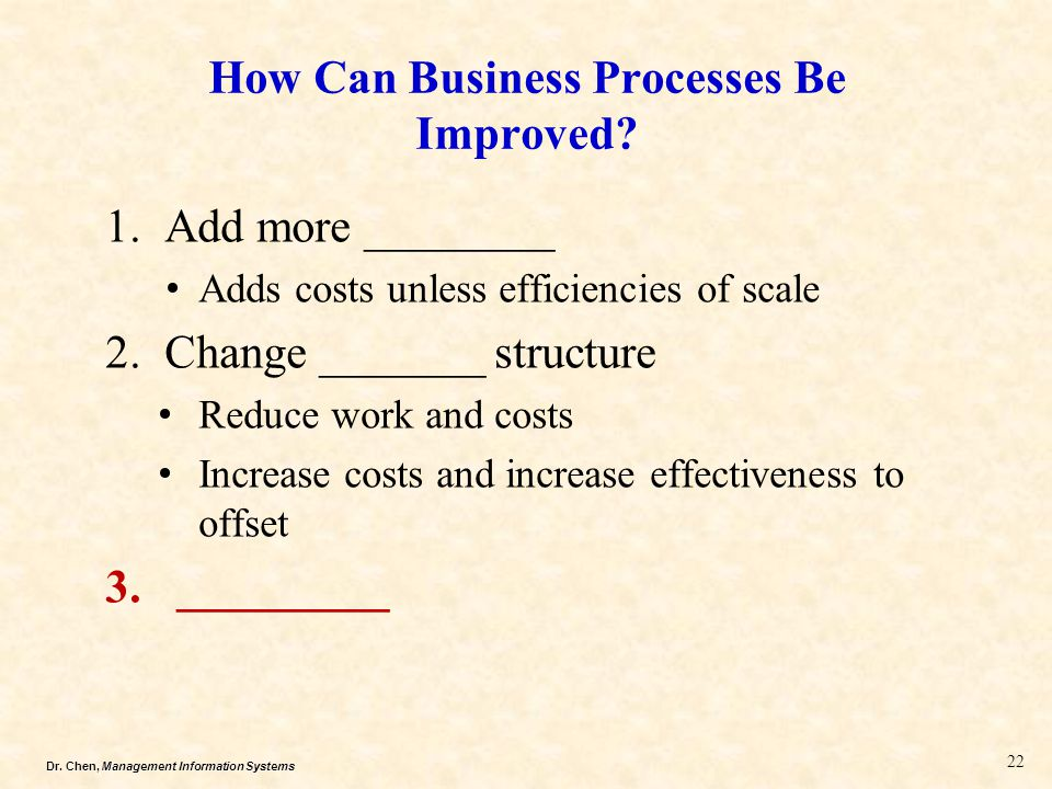 How Can Business Processes Be Improved