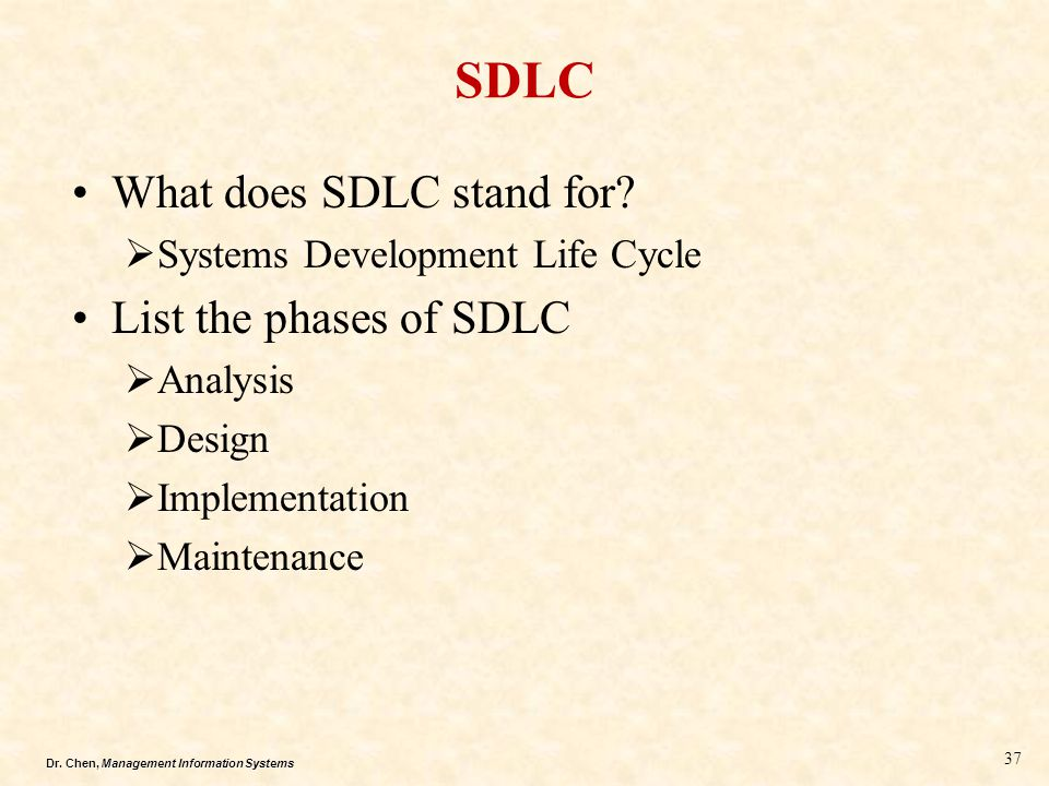 SDLC What does SDLC stand for List the phases of SDLC