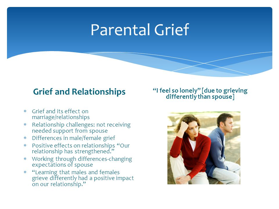 Parental Grief Grief and Relationships