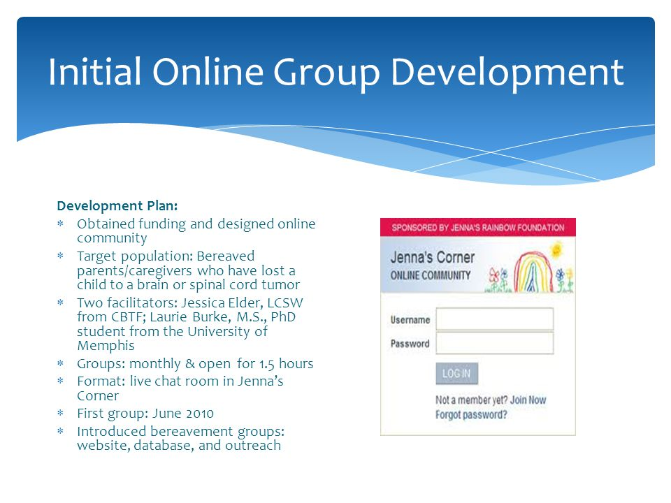 Initial Online Group Development