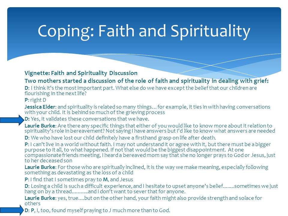 Coping: Faith and Spirituality