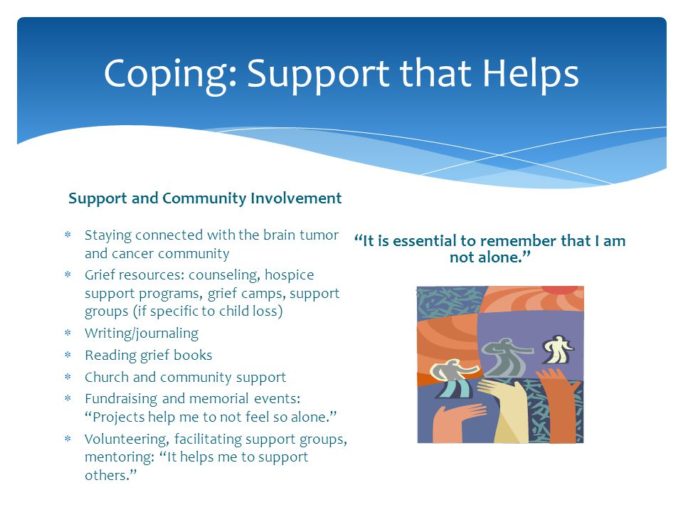 Coping: Support that Helps