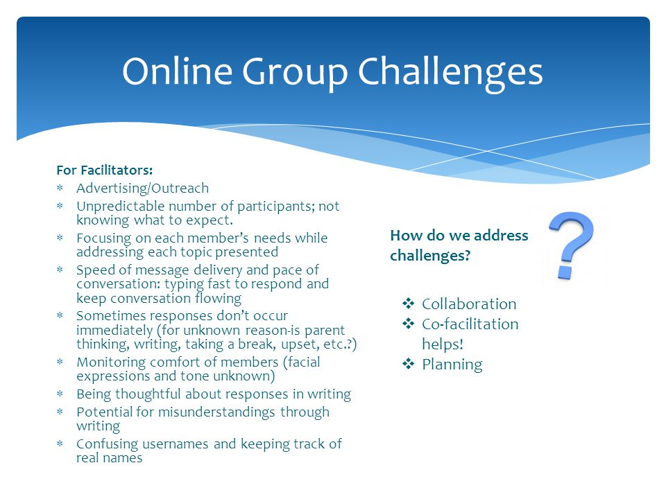 Online Group Challenges