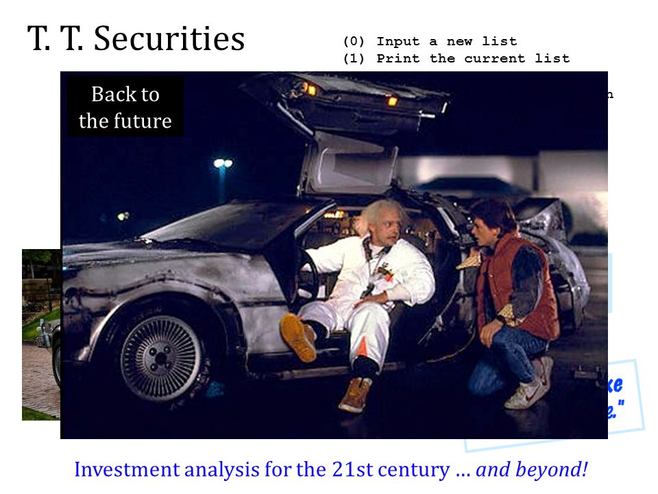 Investment analysis for the 21st century … and beyond!