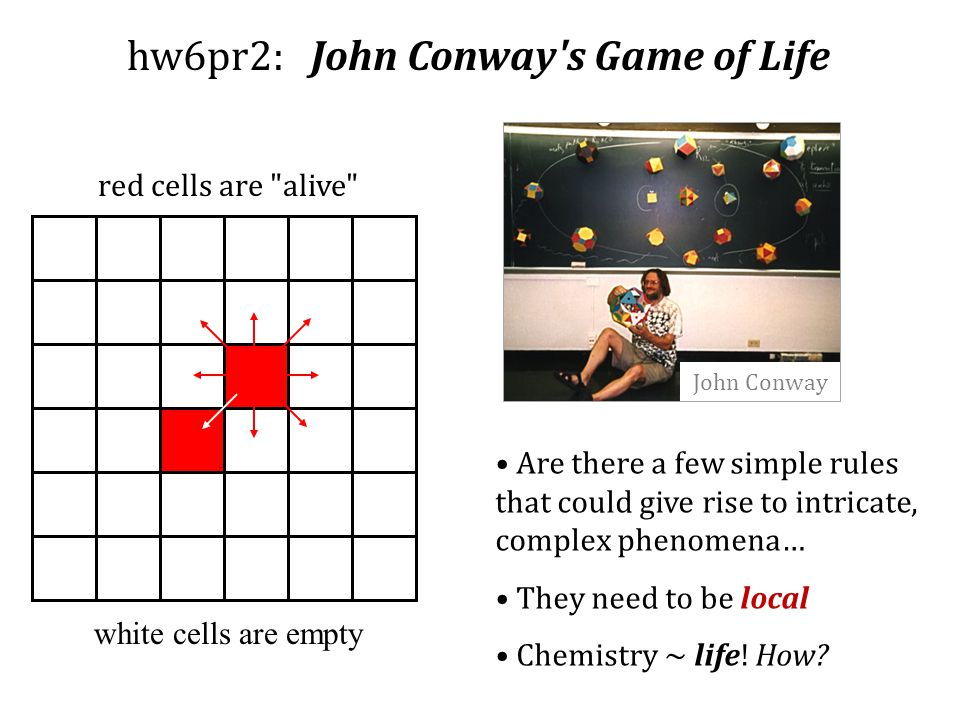 hw6pr2: John Conway s Game of Life