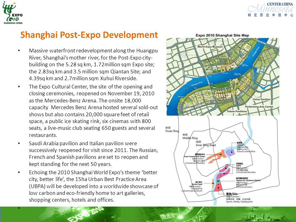 Shanghai Post-Expo Development