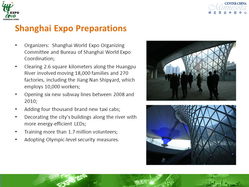 Shanghai Expo Preparations