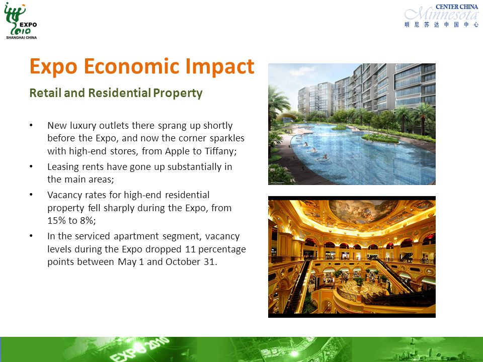 Expo Economic Impact Retail and Residential Property