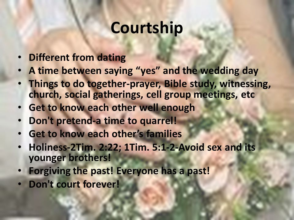 Godly dating and courtship and marriage