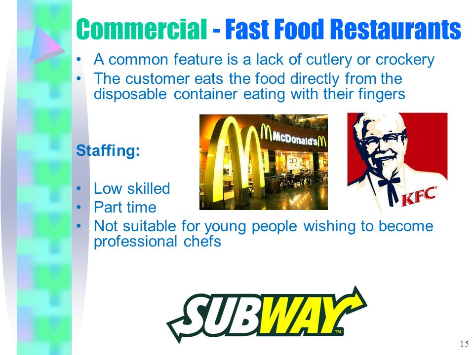 Commercial - Fast Food Restaurants