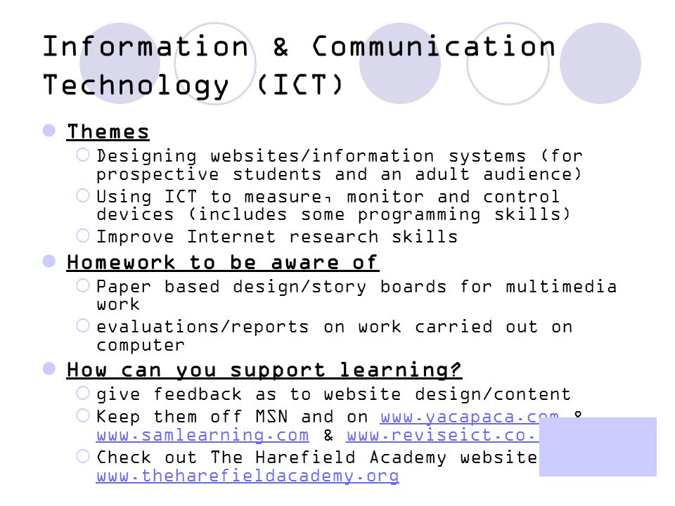 Information & Communication Technology (ICT)