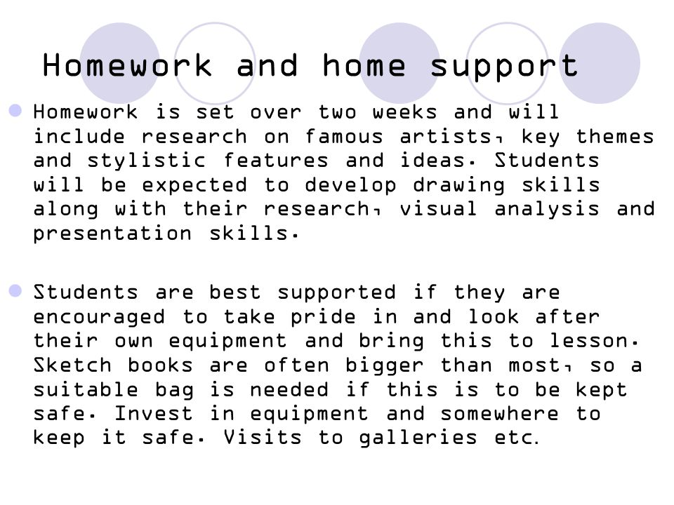 Homework and home support