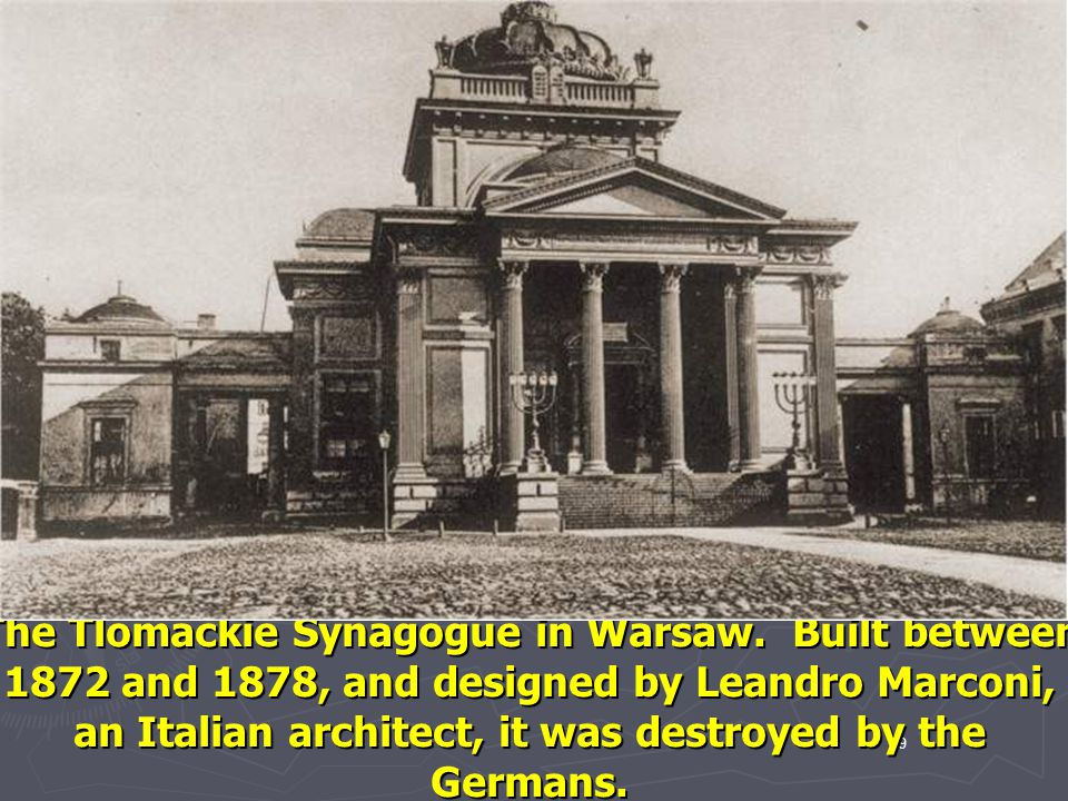 The Tlomackie Synagogue in Warsaw