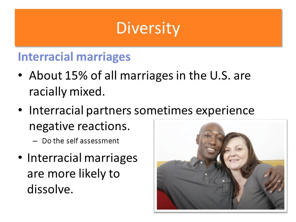 Diversity Interracial marriages