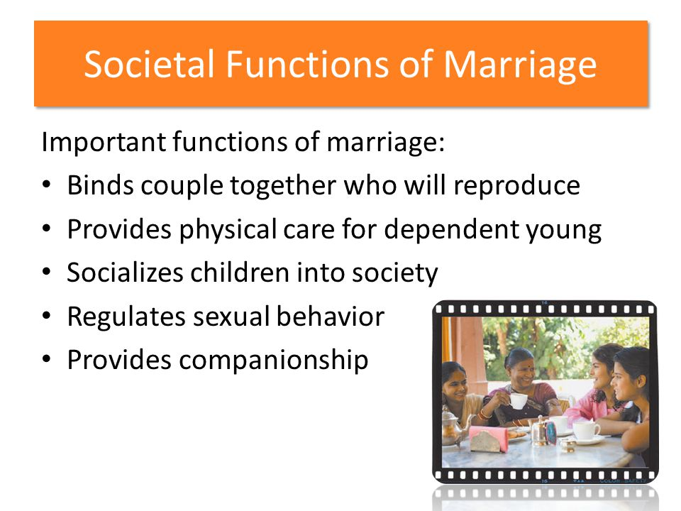 Societal Functions of Marriage
