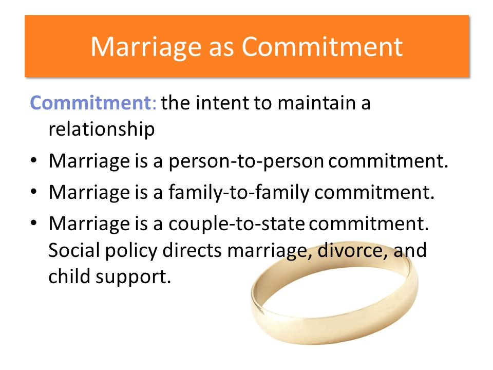 Marriage as Commitment