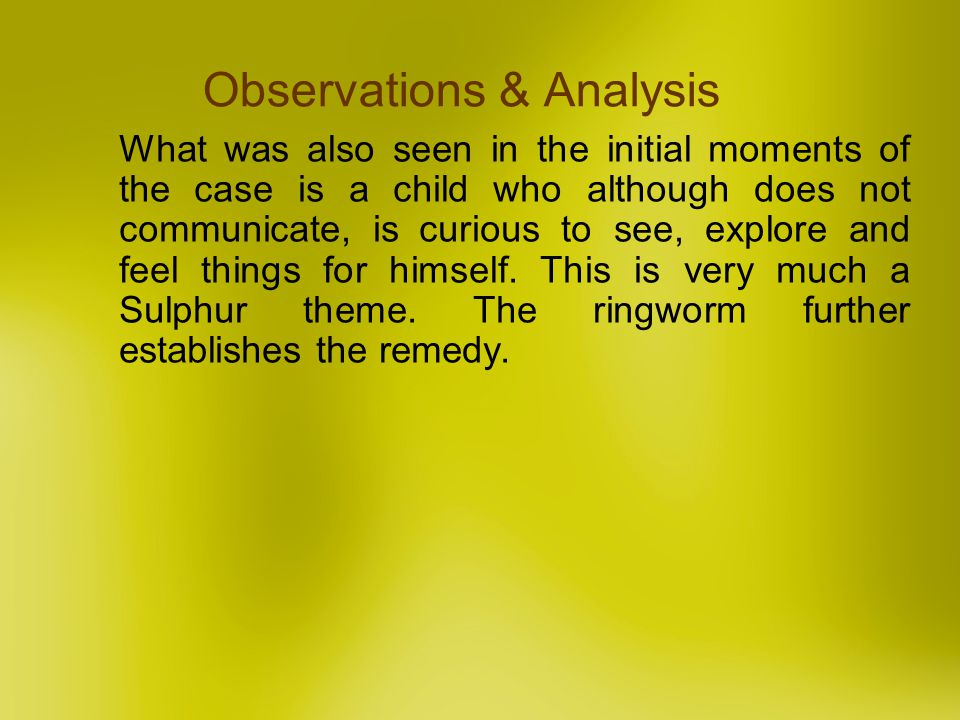 Observations & Analysis