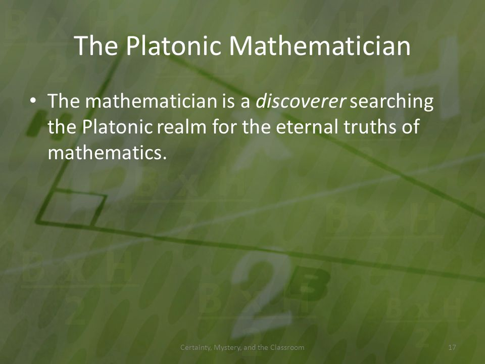 The Platonic Mathematician