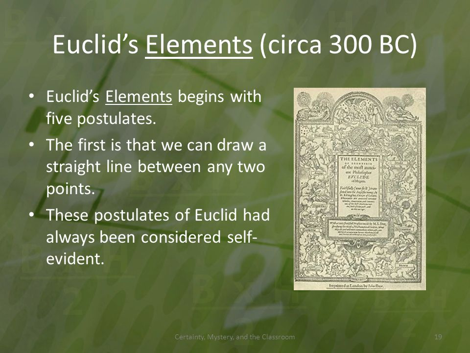 Euclid's Elements (circa 300 BC)