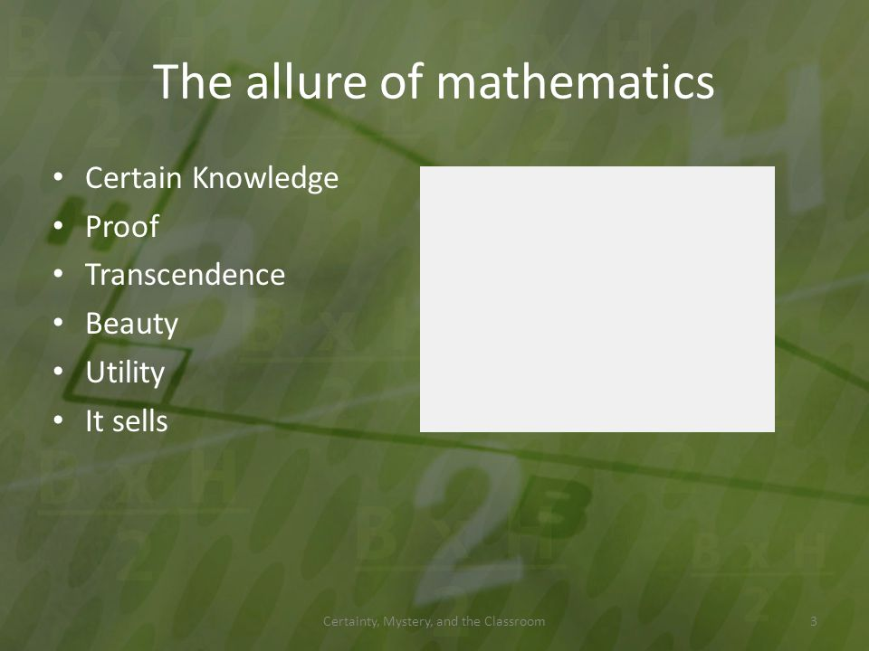 The allure of mathematics