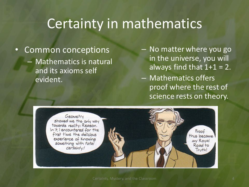 Certainty in mathematics