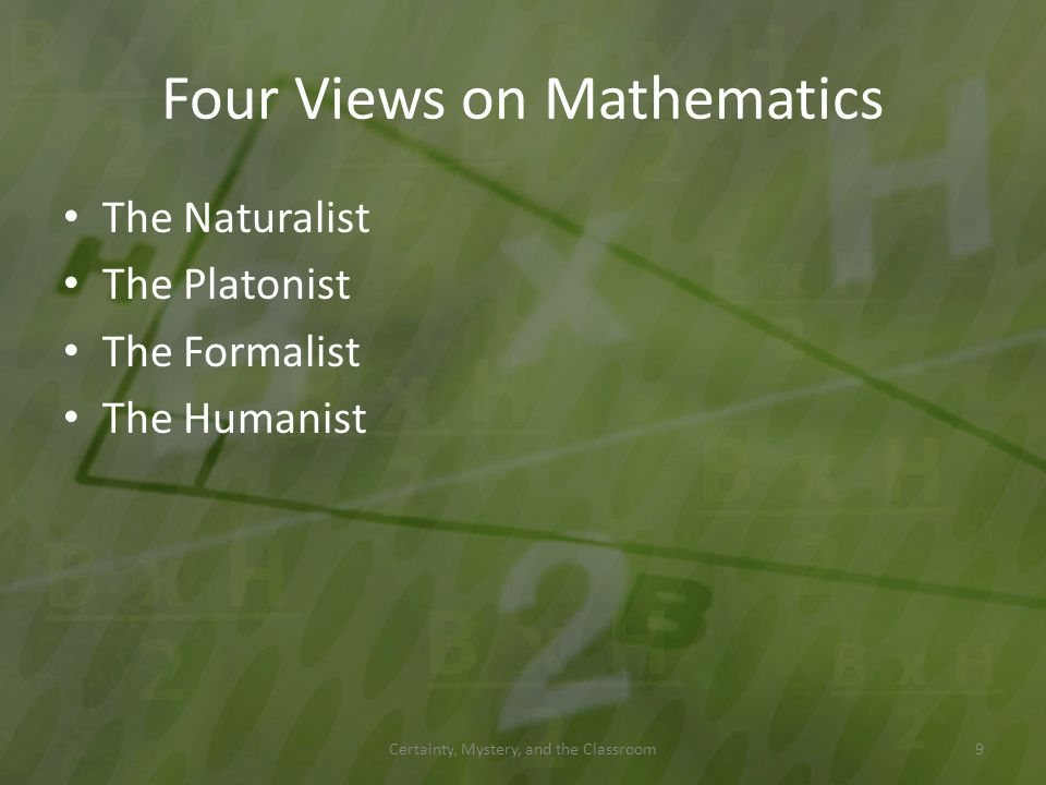 Four Views on Mathematics