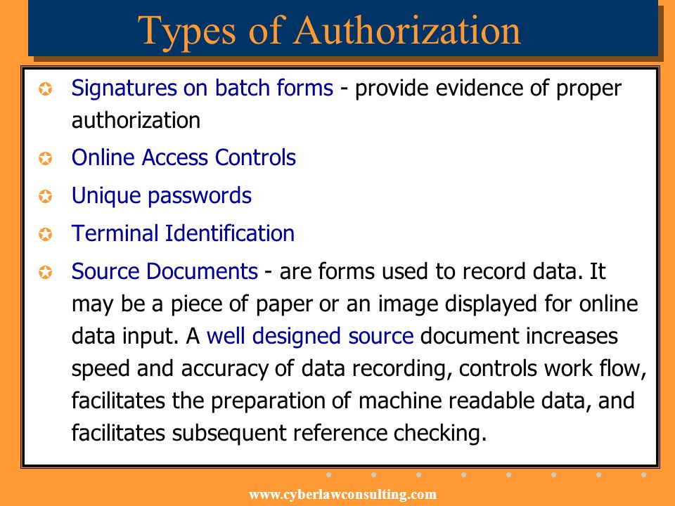 Types of Authorization