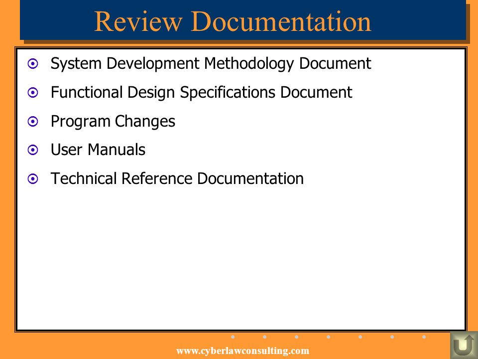 Review Documentation System Development Methodology Document
