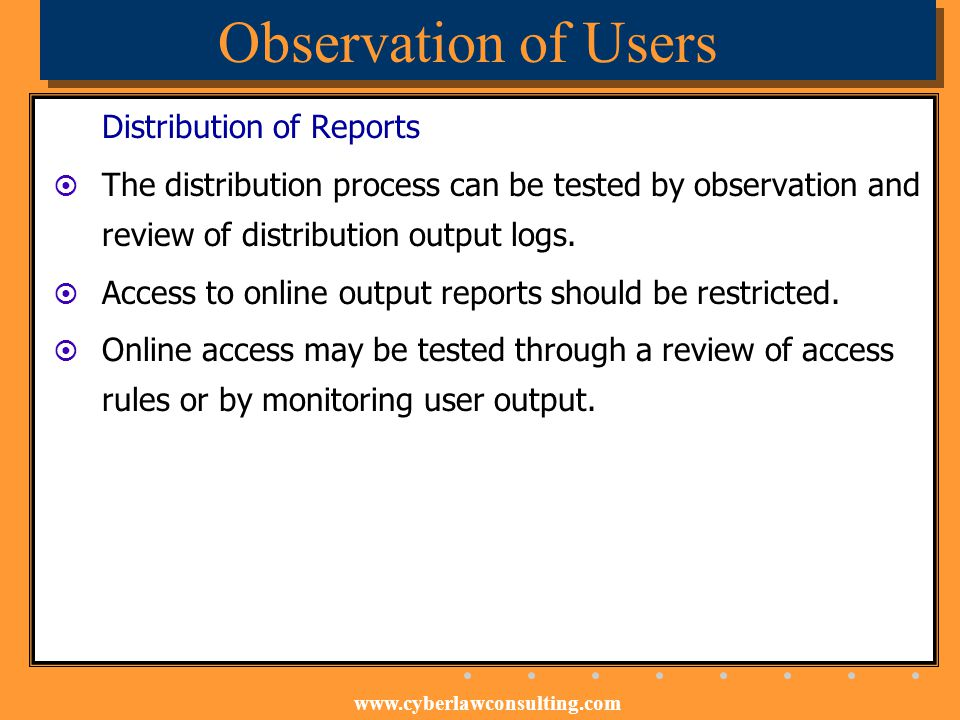 Observation of Users Distribution of Reports