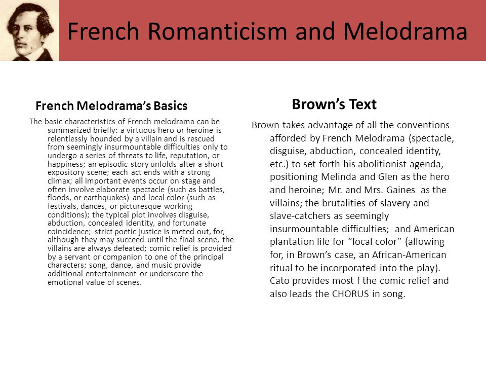 French Romanticism and Melodrama