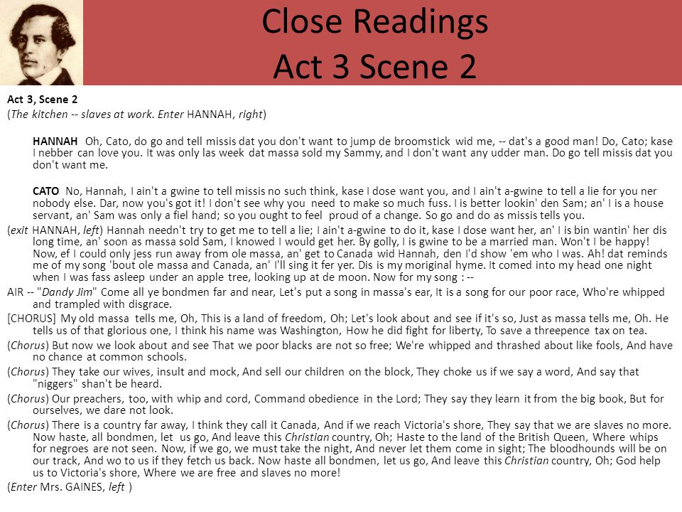 Close Readings Act 3 Scene 2