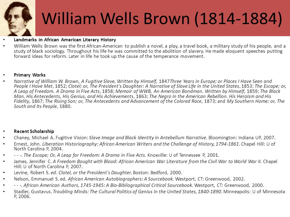 William Wells Brown (1814-1884)