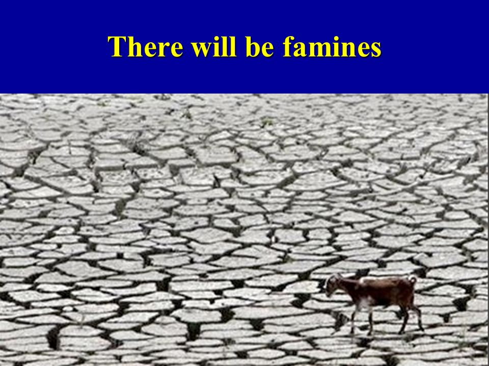 There will be famines