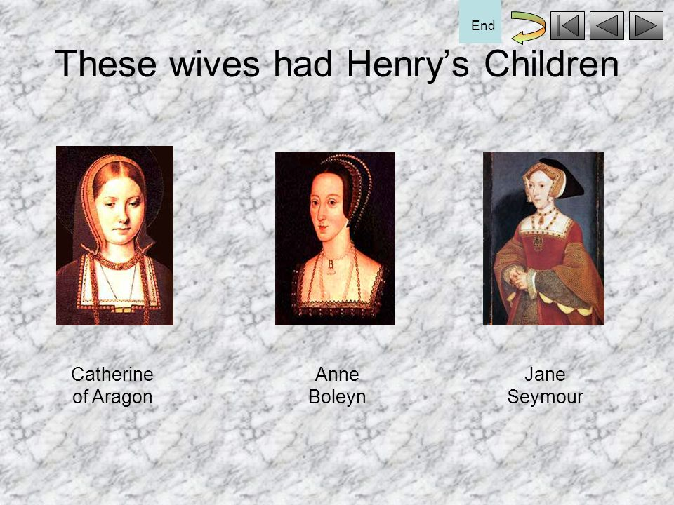 These wives had Henry's Children