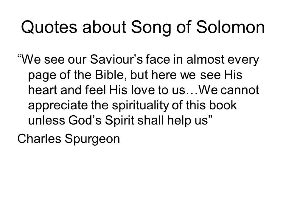 Quotes about Song of Solomon