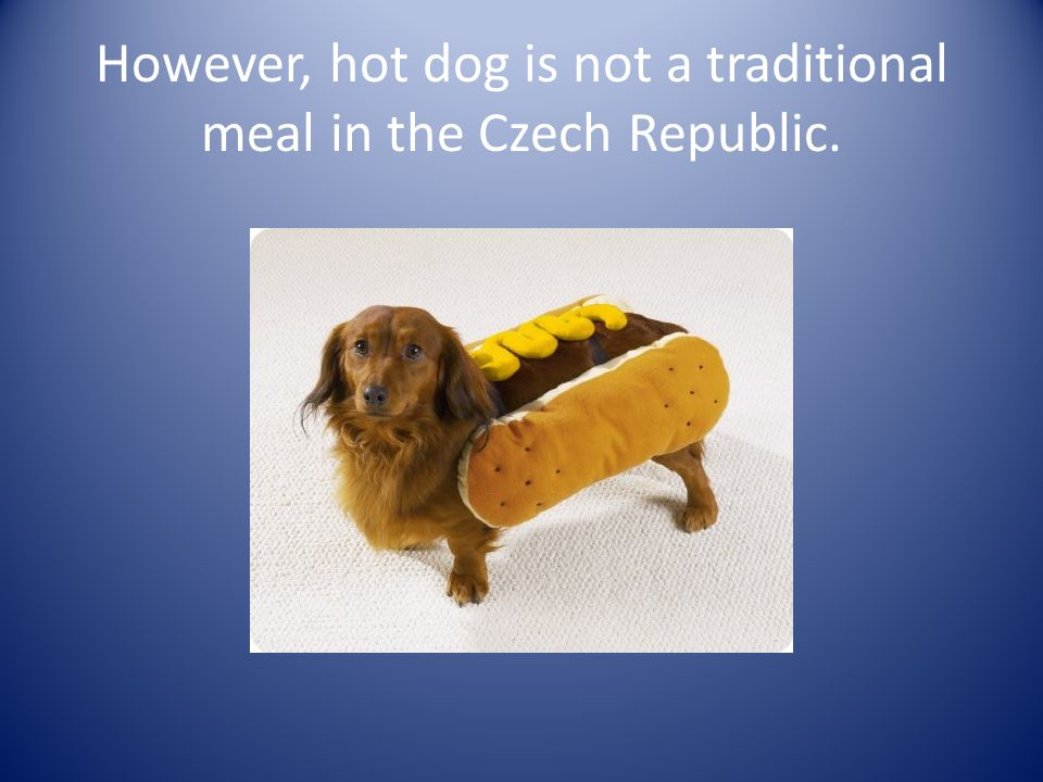 However, hot dog is not a traditional meal in the Czech Republic.