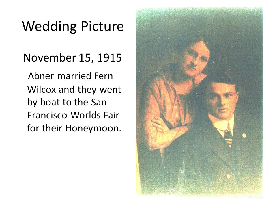 Wedding Picture November 15, 1915
