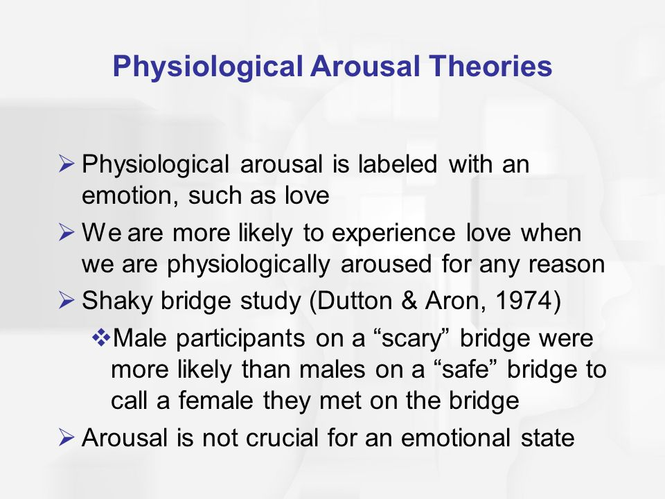 Physiological Arousal Theories