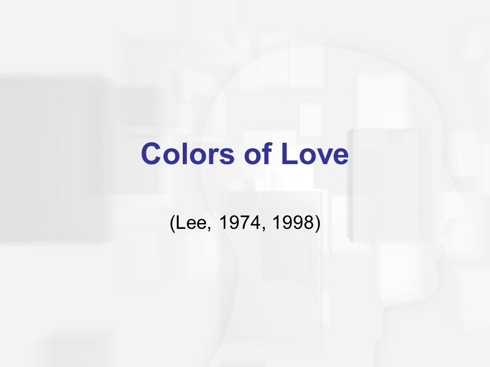 Colors of Love (Lee, 1974, 1998)