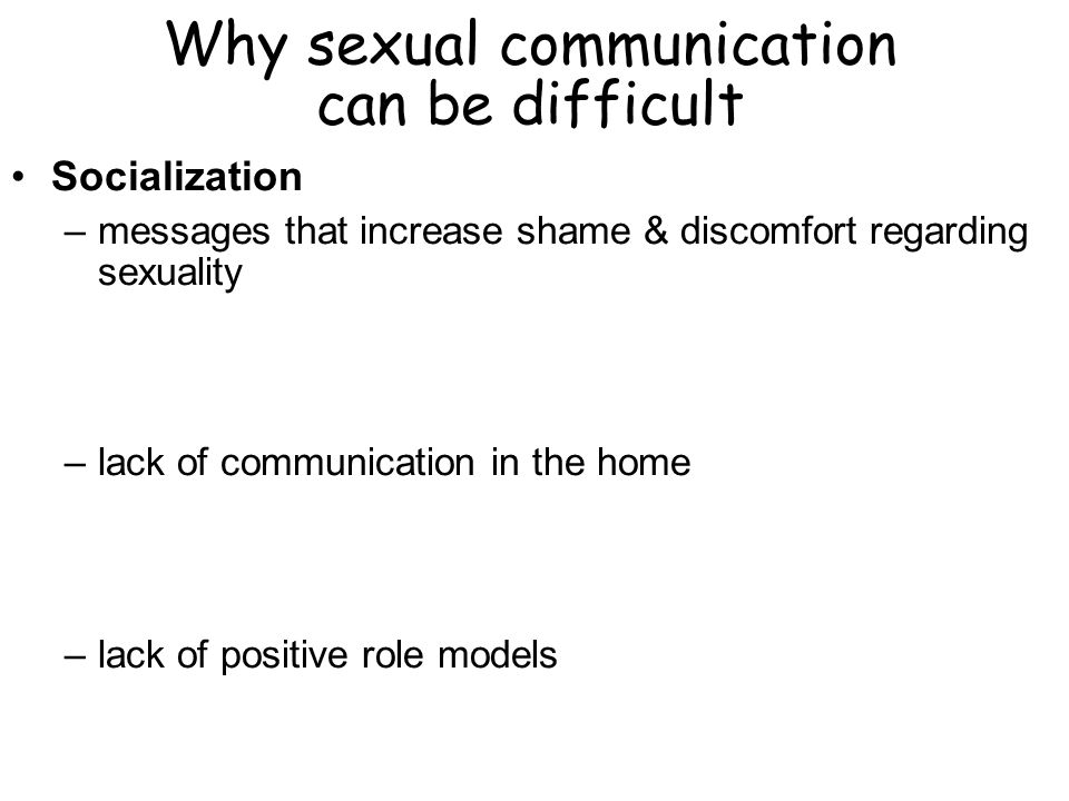 Why sexual communication can be difficult