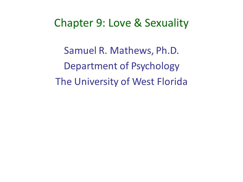 Sexuality and u powerpoint