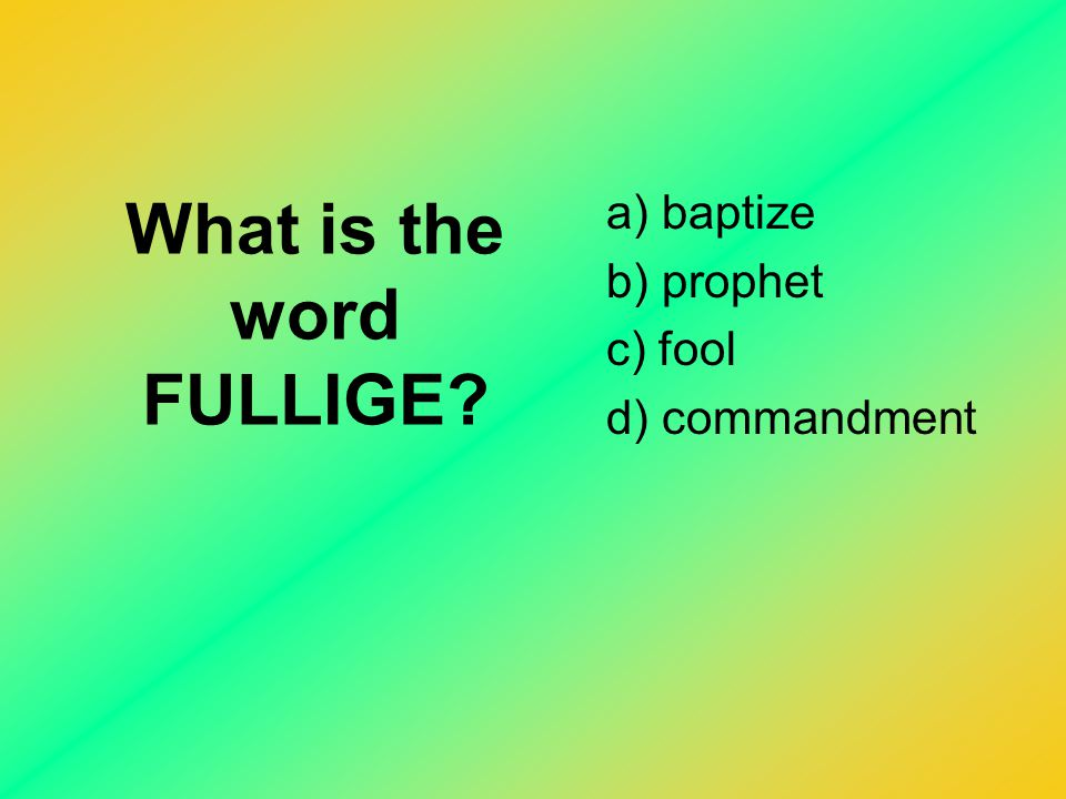 What is the word FULLIGE