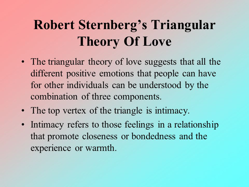 sternbergs triangular theory