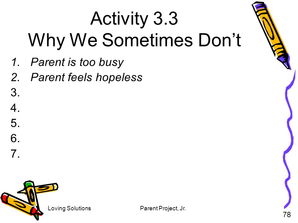 Activity 3.3 Why We Sometimes Don't